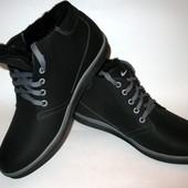 Зимние мужские ботинки на шнурке