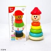 Деревянная игрушка-пирамидка BT-WT-0032 неваляшка