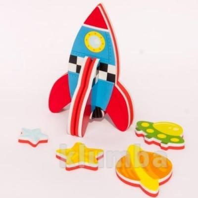 Игровой набор для ванной - 3d модель ракета (8 деталей) фото №1