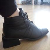 Осенние удобные ботинки из натуральной кожи!!