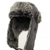 Молодежная шапка-ушанка от бренда New York