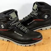 Мужские ботинки Columbia стиль, кожа, мех, прошиты, качество на высоте