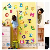 Наклейки на стену в детскую комнату Алфавит