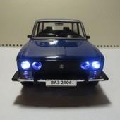 Машина металлическая Ваз 2106 blue, звук и свет!