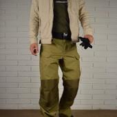 Тактические брюки. Ткань рипстоп. Колени и шлейки усилены кордурой