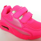 Оригинальные кроссовки для девочки (слегка выгорел цвет), р. 30 - 19 см, код - 413