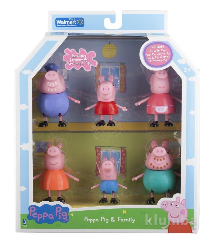Свинка пеппа большая семья, оригинал jazwares фото №1