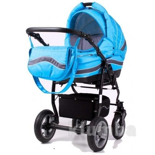 Универсальная коляска 2 в 1 Adbor Marsel серо-голубая фото №1