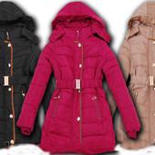 Зимнее пальто,пуховик для девочки подростка