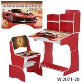 Детская парта W 2071 столик с стульчиком для девочки домашняя