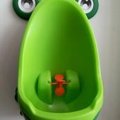 Писсуар детский, лягушка в наличии, зелёный