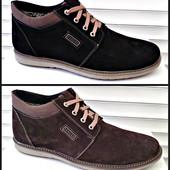 Зимние ботинки   натур замш в наличии