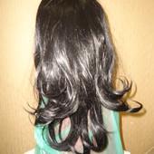 Карнавальный обруч детский женский с длинными волосами на Хеллоуин. Ведьма колдунья