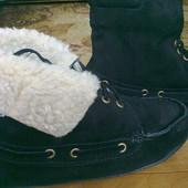 Akira Зимние замшевые ботинки. Стелька 24см