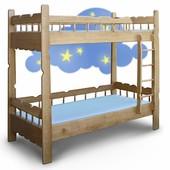 Кровать двухъярусная Ясень Дуб