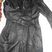 куртка-плащ шкіряна-як нова,
