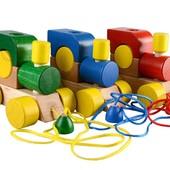 Детские деревянные машинки каталки игрушки