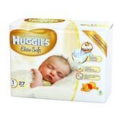Распродажа! Huggies Elite Soft 1 27 шт, 2 27 шт! Днепр