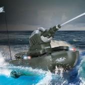 Радиоуправляемый танк-амфибия (полный привод,стреляет водой)