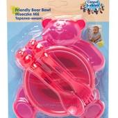 Тарелка-медвежонок со столовыми приборами Canpol Babies
