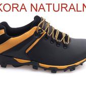 Мужские зимние ботинки - натуральная кожа