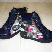 Ботиночки сникерсы синие Vogue Д411 р.39,41
