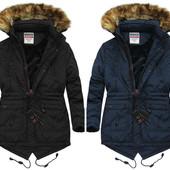 Мужская зимняя куртка пуховик на холлофайбере и меховой подкладке