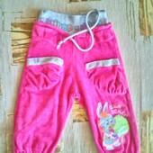 Яркие велюровые штанишки  Lilitop для девочки 2 лет ( 86)