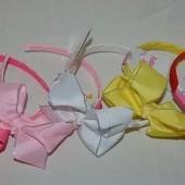 Замечательный обруч ободок бант для ваших красоток разные цвета