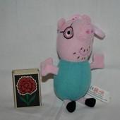 Мягкий плюшевый Папа свин брелок Peppa Pig Свинка Пеппа