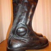 классные мото-ботинки 100%натур, кожа 40 р-р