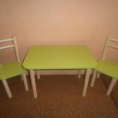 Украина Столик и 2 стульчика, разные цвета