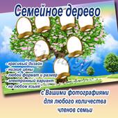 Семейное дерево на заказ с Вашими фотографиями. Электронный вариант