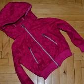 Обалдено яркая курточка ветровка штурмовка не продувайка не промокайка 4 - 5 лет 110 см