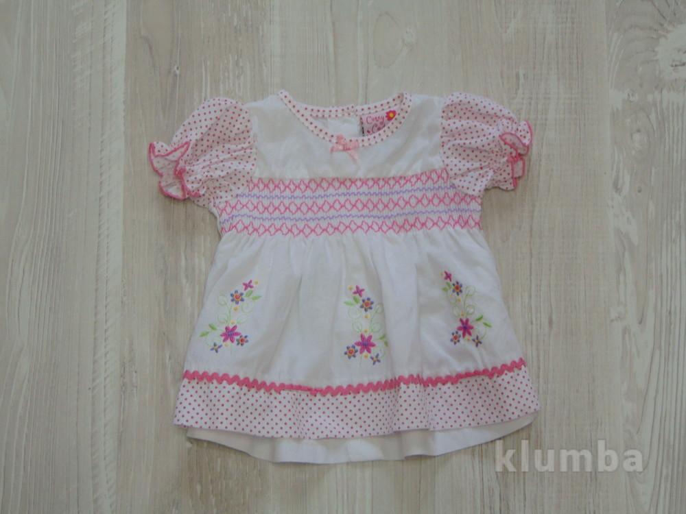 Нежны лёгкая блуза для маленькой принцессы от Cutey Couture, размер 0-3 месяца, состояние новой вещи фото №1