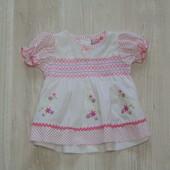 Нежны лёгкая блуза для маленькой принцессы от Cutey Couture, размер 0-3 месяца, состояние новой вещи