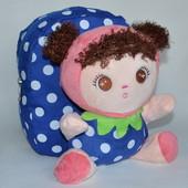 Детский рюкзак с плюшевой игрушкой кукла синий