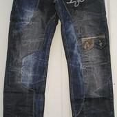 Мужские джинсы молодежные осень плотные пояс 78-98см бедра 92-110см