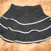 нарядная юбка 3-4 состояние новой 100% коттон