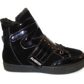 Ботинки зимние черные липучка С360 р 36,37,38,40