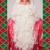 Парик и борода Деда Мороза эконом
