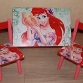 Стол  столик  детский Ариель и 2 стула  можно с 1   и другие