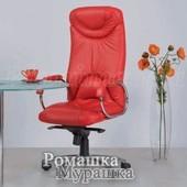 Офисное кресло для руководителя Elf steel chrome Le [кожа Lux]  Эльф