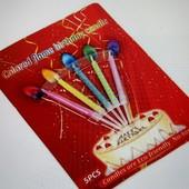 Набор праздничных свечек с разноцветным пламенем