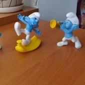 Игрушки из Макдональдса. Смурфы.