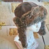 Очень теплая зимняя шапка ушанка - мужская (XL)