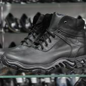 зимние мужские ботинки натуральная кожа Код: з-125