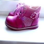 Демисезонные ботинки для девочки, р. 24 (15 см)