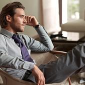 Шелковый галстук Tchibo с teflon защитой от пятен