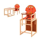 Стульчик для кормления М V-010-27-8, трансформер, 43-96-45 см., ремни безопасности, большая спинка,